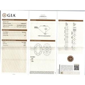 Peter Suchy GIA Certified 3.71 Carat Platinum Three-Stone Engagement Ring