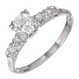 .57 Carat Diamond Platinum Engagement Ring