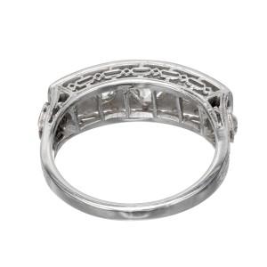 EGL Certified  1.30 Carat Diamond 18k White Gold Ring