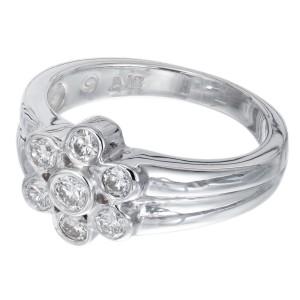 .43 Carat Seven Diamond Flower Gold Ring