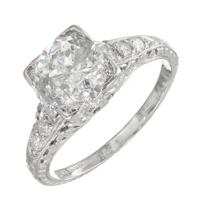 EGL Certified 1.56 Carat Diamond Platinum Ring