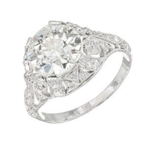 EGL Certified 2.48 Carat Diamond Platinum Ring