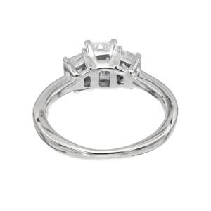 GIA Certified 1.02 Carat Diamond 18k White Gold Engagement Ring