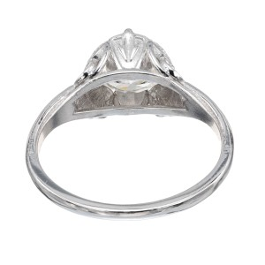 Peter Suchy GIA Certified 1.45 Carat Diamond Platinum Butterfly Engagement Ring