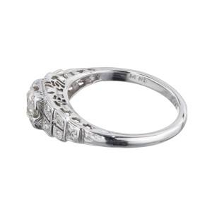 EGL Certified .40 Carat Diamond White Gold Engagement Ring