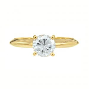 Peter Suchy GIA Certified .77 Carat Yellow Gold Engagement Ring