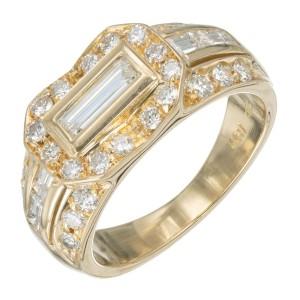 .95 Carat Diamond Yellow Gold Ring