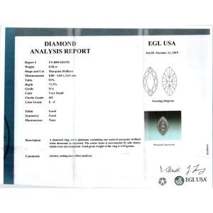 EGL Certified .80 Carat Marquise Diamond Platinum Halo Ring