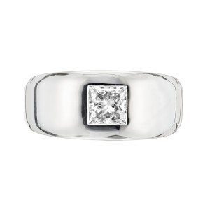 Peter Suchy GIA Certified 1.01 Carat Diamond White Gold Unisex Engagement Ring