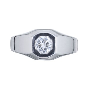 Peter Suchy GIA Certified .70 Carat Diamond White Gold Unisex Ring