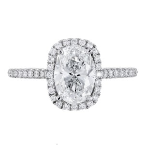 Peter Suchy GIA Certified 1.51ct Diamond Platinum Engagement Ring