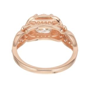 Peter Suchy GIA Certified 1.41 Carat Diamond Rose Gold Engagement Ring