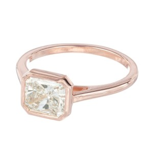 Peter Suchy GIA Certified 1.51 Carat Diamond Rose Gold Engagement Ring