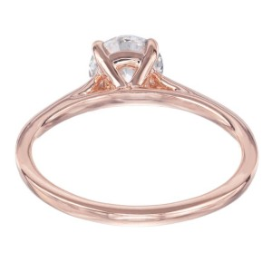 Peter Suchy GIA Certified 1.12 Carat Diamond Rose Gold Solitaire Engagement Ring