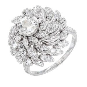2.59 Carat Diamond White Gold Cocktail Ring