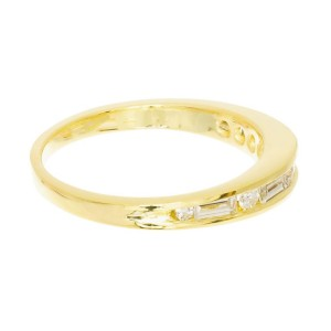 .26 Carat Diamond Yellow Gold Channel Set Domed Ring