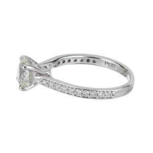 Peter Suchy EGL Certified 1.19 Carat Diamond Platinum Engagement Ring