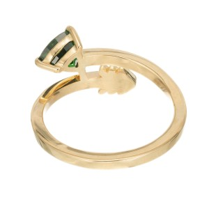 Peter Suchy GIA Certified .96 Carat Tsavorite Garnet Yellow Gold Arrow Ring