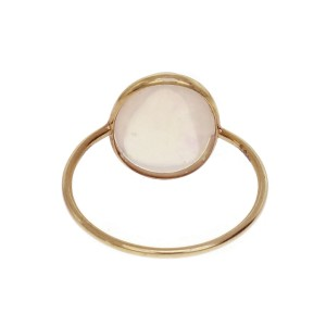 Ethiopian Opal Translucent Dome Oval Ring 18k Yellow Gold