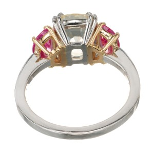 Peter Suchy GIA Certified 3.91 Yellow Sapphire Platinum Engagement Ring