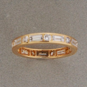 Oscar Heyman 18K Yellow Gold Diamond Wedding Band Ring Size 4.75