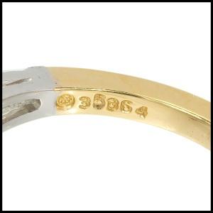 Vintage Oscar Heyman Platinum and 18K Yellow Gold Diamond Ring Size 5.5