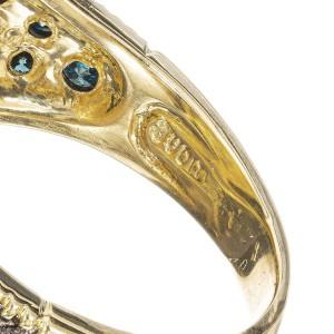 Judith Ripka Crystal Rock Quartz Diamond Yellow Gold Monaco Cocktail Ring