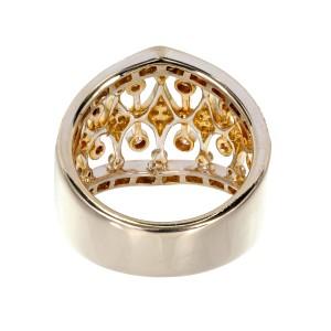 Parviz 18K White, Yellow and Pink Gold 0.70ct Diamond Band Ring Size 7