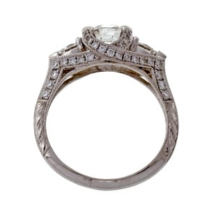 Peter Suchy Platinum with 1.05ct Diamond Engagement Ring Size 6