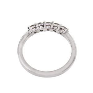 Peter Suchy Round 5 Diamond Band 0.38ct Platinum Ring Common Prong