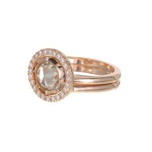Peter Suchy 1.14 Carat Diamond Rose Gold Engagement Ring