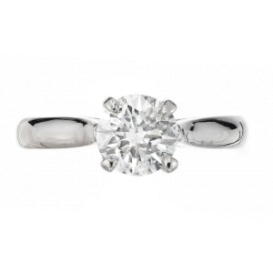 Peter Suchy GIA Certified 1.09 Carat Diamond Platinum Solitaire Engagement Ring