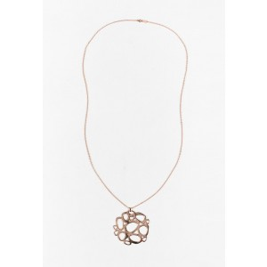 "Ippolita Rose & Yellow Gold Plated ""Rose Mosaico Pendant"" Necklace"