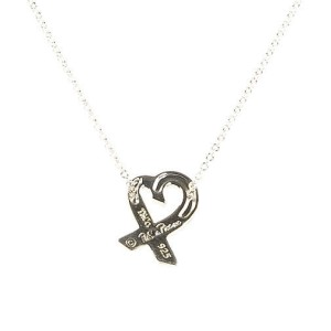 Tiffany & Co. Paloma Picasso Sterling Silver with Pink Sapphire Loving Heart Pendant Necklace