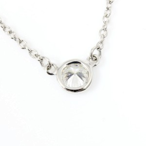 Tiffany & Co. Platinum with Diamond By The Yard Pendant Necklace