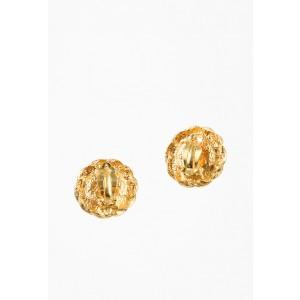 Chanel Gold Tone Gripoix Vintage Earrings