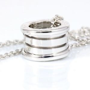 Bulgari 18K White Gold B-Zero 1 Pendant Necklace