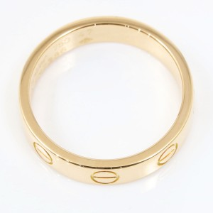 Cartier Mini Love Ring 18K Rose Gold Size 4.25