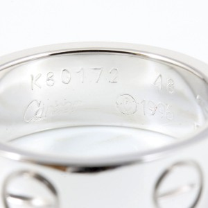 Cartier Love Ring 18K White Gold Size 4.5