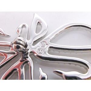 Swarovski Gold & Silver Tone Hardware with Crystals Swan Pin Brooch