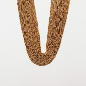 Gucci Gold Tone Chain Bamboo Necklace