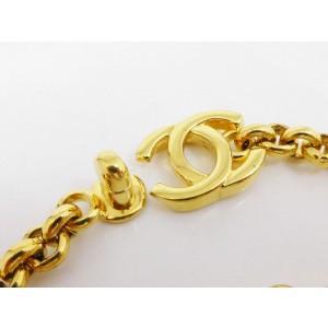 Chanel Gold Tone Logo Chain Bracelet