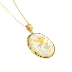 18k Yellow gold Shell Necklace