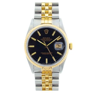 Rolex Datejust Two Tone Mens Watch