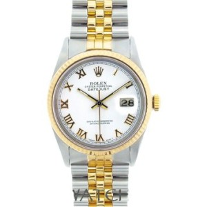 Rolex DateJust Yellow Gold & Stainless Steel 36mm Watch