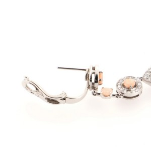 Boucheron Cinna Pampilles Chandelier Earrings 18K White Gold and Diamonds with Corals