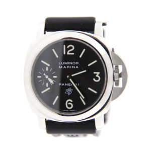 Panerai PAM318 Luminor Marina Logo Brooklyn Bridge Stainless Steel Watch