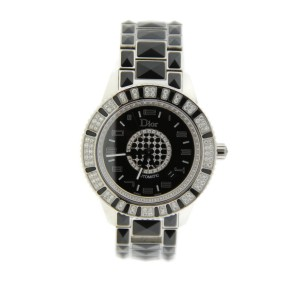 Christian Dior Christal Diamond Stainless Steel Unisex Watch