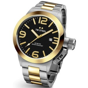 TW Steel Canteen Two Tone Stainless Steel Watch CB41