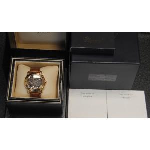 Chopard Happy Sport 28/3581 Diamond Chronograph 18K Rose Gold Watch